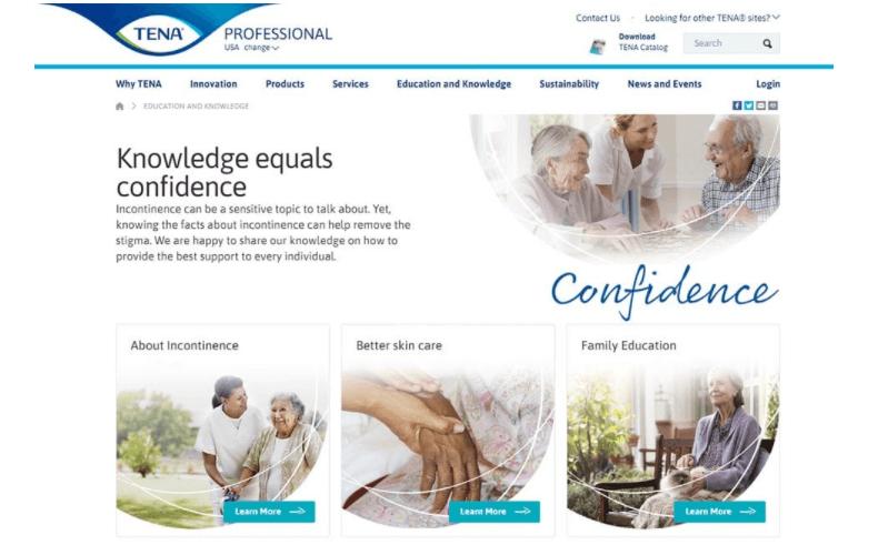 Tena sample website sample | web design philadelphia | field1post.com